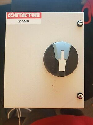 Contactum Steel 20a Isolator Switch 3 Phase Ds020 3 Pole+n • 50£