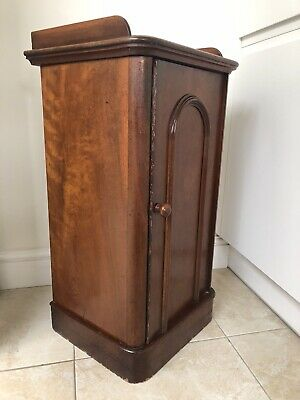 Antique Mahogany Edwardian Pot Cupboard • 25£