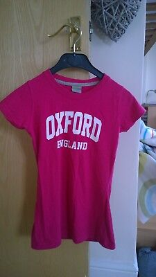 Ladies Oxford College T-shirt Size Xs • 2.99£