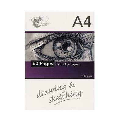 £2.49 • Buy NEW A4 HEADBOUND SKETCH PAD CARTRIDGE WHITE DRAWING PAPER 60 SHEET BOOK 135gsm