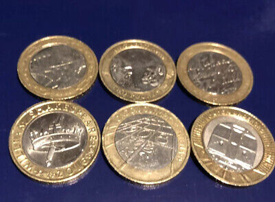 6x Job Lot 2 Pound Coin . History's,London Underground,2008 Olympic • 17£