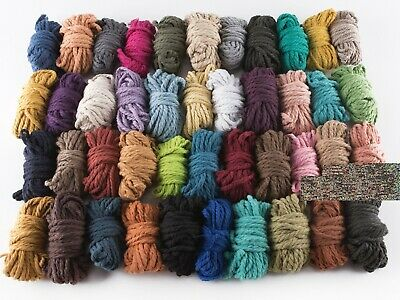 AU5 • Buy 4mm 10 Mtrs Macrame Cord Cotton String Coloured Small Sample Rope Craft Yarn