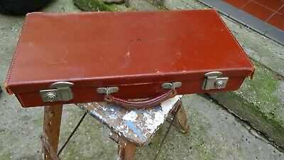Vintage Ww2 Childs Evacuees Leather Suitcase By Pendragon Made In England  • 16.99£