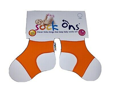Orange Baby Sock Ons 0-6 Months • 1.99£