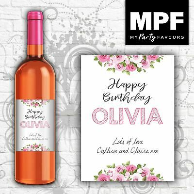 £2.95 • Buy Personalised Birthday Wine Bottle Label Gift - Any Name, Message- Mum/Nan/Sister