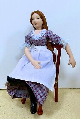 $ CDN21.46 • Buy Dollhouse Miniature Porcelain  Victorian  Servant Girl Doll (Only)