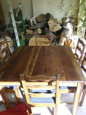 AU60 • Buy Teak Dining Table And 6 Dining Chairs