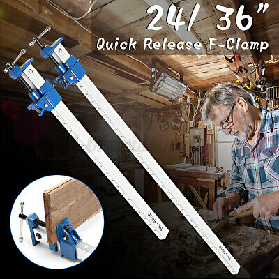 AU42.99 • Buy 24''36'' Alloy F-Clamp Bar Adjusted DIY Woodwork Quick Release Clamp Wood Tools