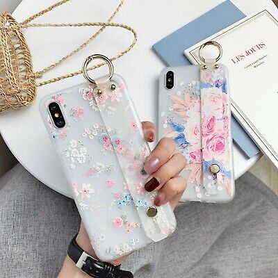 AU6.96 • Buy Hot Frosted Flower Bracket Women Girl Fashion Soft Case Cover For Various Phone