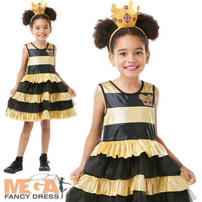Queen Bee Girls Fancy Dress LOL Surprise Doll Character Kids Costume Outfit New • 15.99£