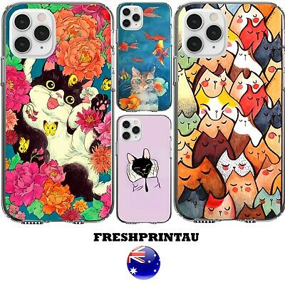 AU15.50 • Buy Silicone Case Cover Colourful Cats Art Cheeky Pet Soft Cute Cat Lady Kitten Anim