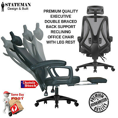 AU75 • Buy Home Office Chair Ergonomic Mesh Vented Back Support Gaming  Folding Armrest