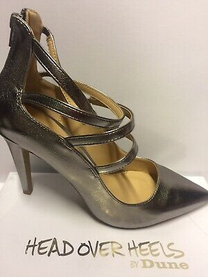Head Over Heels Size 8 Pewter Strappy Shoes  • 5£