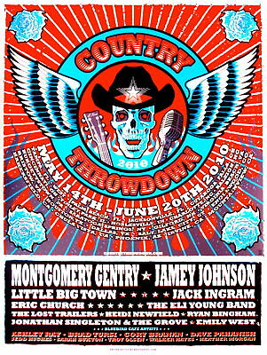 $30.02 • Buy Country Throwdown Concert Poster 2010 Brian Ewing Signed Only