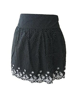Red Herring Black Polka Dot Spotty Skirt Embroidery Anglaise. Size 18 VGC • 2.69£