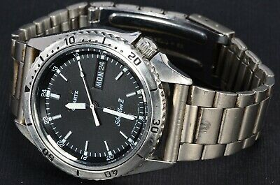 $ CDN181.48 • Buy Seiko 7546-6050 Silverwave Quartz Dive Watch Works Well, Black Dial 1978 438