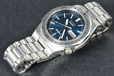 $ CDN197.27 • Buy Seiko 7546-7040 Silverwave Quartz Dive Watch Works Well, Blue Dial 1978 838