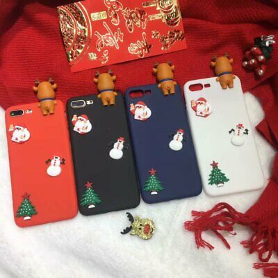 AU6.96 • Buy Christmas Elk Gift Hot Cute Cartoon Creative Silicone Phone Case Cover For OPPO