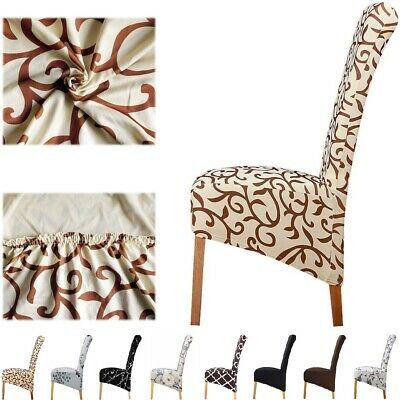 AU7.99 • Buy XL Stretch Dining Chair Cover Slipcover Spandex Wedding Cover 1/4/6Pcs Removable