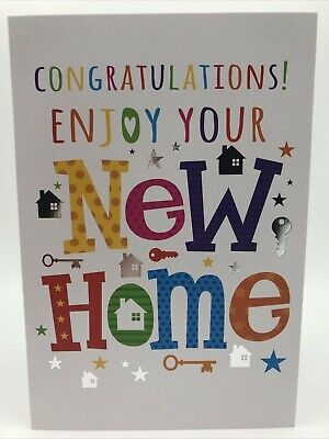New Home Card By Simon Elvin Cards Modern, Silver Foiled Best Wishes  • 1.99£