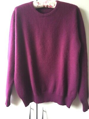 M&S (Marks And Spencer) Autograph Cashmere Purple (magenta) Round Neck Jumper  • 20£