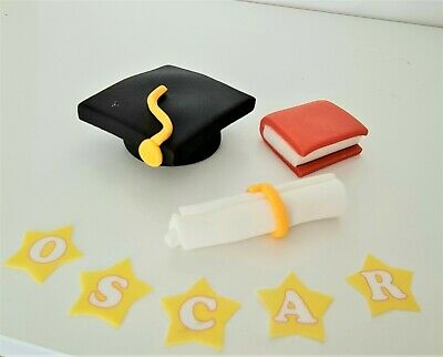 GRADUATION Cake Toppers EDIBLE Decoration Personalised Birthday Unofficial Icing • 3.63£