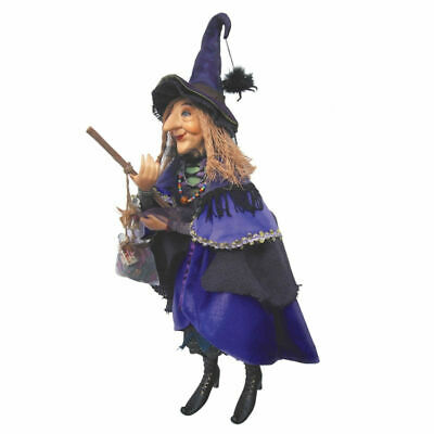 Witches Of Pendle - Alice Nutter Witch Doll Flying (Purple) 50cm Wicca Pagan • 49.95£