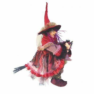 Witches Of Pendle Cassandra Burgundy Witch Doll 60cm Flying Collectible Wicca  • 49.95£