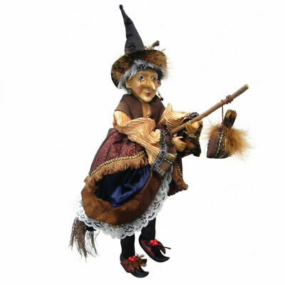 Witches Of Pendle - Maureen Witch Flying (Brown & Gold) 50cm Collectible Doll • 34.95£