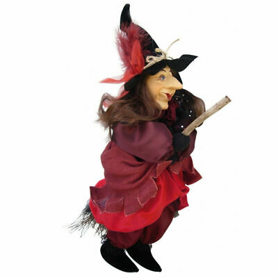 Witches Of Pendle - Tizzy Witch Doll Flying (Red) 35cm Collectible Pagan Wiccan • 24.95£
