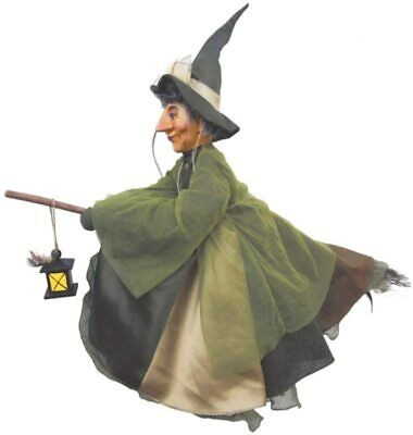 Witches Of Pendle - Agatha Witch Flying (Green) 50cm Collectible Ornament Doll • 34.95£