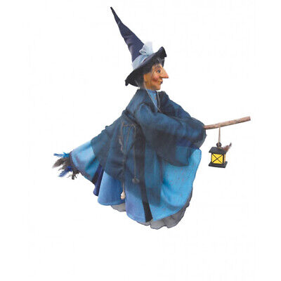 Witches Of Pendle - Agatha Witch Flying (Blue) 50cm Collectible Ornament Doll • 34.95£