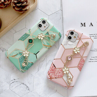 AU7.99 • Buy New Hot Fashion Bracelet Plating Marble Girl Women Case Cover For Various Phone