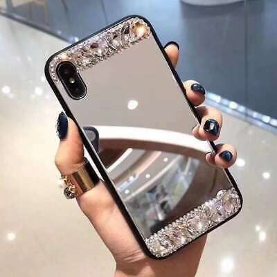 AU7.96 • Buy Hot Fashion Flash Diamond Makeup Mirror Women Girl Case Cover For Various Phone
