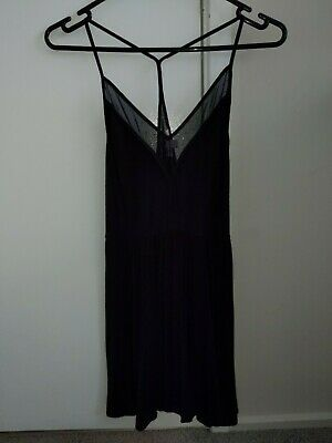 AU10 • Buy Urban Outfitters Cope Black Mesh Fit And Flare Party Night Dress Xs 6 8