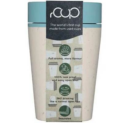AU14.98 • Buy RCUP Sustainable Reusable 8oz / 230ml Coffee Cup In Cream/Teal RCUPCT8