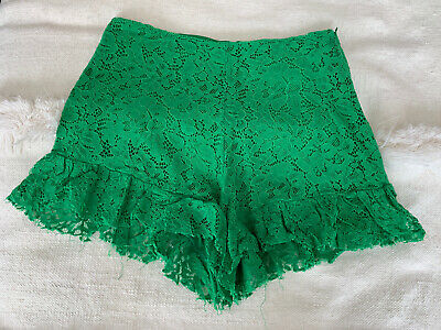 Zara Lace Shorts Green Size M • 5£