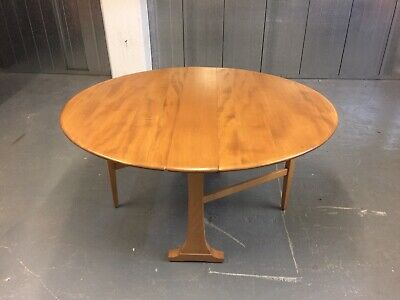 Ercol Blonde Mid Century Drop Leaf Extending Kitchen Dining Table          M3775 • 125£