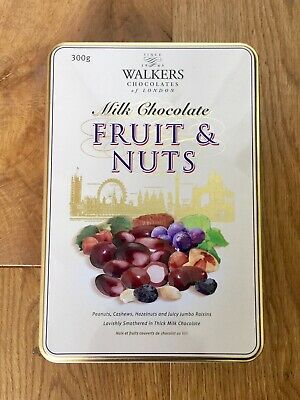 Walkers London Fruit & Nuts Storage Tin For Christmas Art Crafts Sweets (empty) • 0.99£
