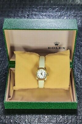 $ CDN791.55 • Buy Rolex Datejust 18k Yellow Gold 26mm White Roman Dial 6917 1990s Boxed⌚⌚