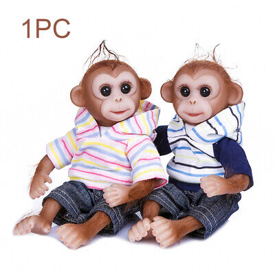 26cm Simulation Realistic Monkey Reborn Doll Handmade Mini Toy Soft Baby Gift • 25.79£