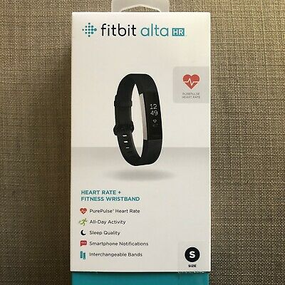 AU30.50 • Buy Fitbit ALTA HR Black Small With 4 Metallic Bands In Box