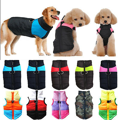 Pet Dog Padded Vest Harness Puppy Jumper Apparel Jacket Warm Winter Clothes Coat • 8.09£