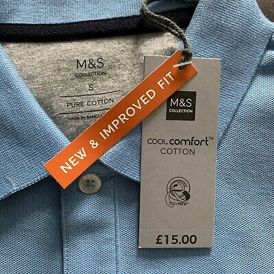 Mens Marks & Spencer Silly Priced Polo Shirt. Ideal Xmas Gift ! New. Size Small • 3£