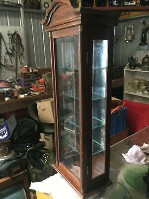 AU200 • Buy Antique Wall Mounted Timber & Glass Display Cabinet.