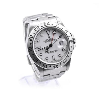 $ CDN11579.04 • Buy Rolex Explorer II Stainless Steel White Dial Wristwatch Ref 16570