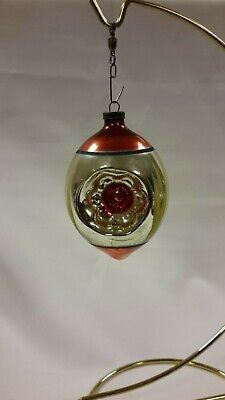 $ CDN5.27 • Buy Vintage Mercury Glass Christmas Ornaments JAPAN Triple Indents Handpainted