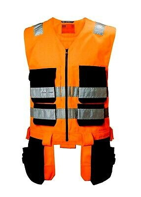 Helly Hansen Alna Hi Vis Orange/charcole Class 1 Construction Tool Vest - 77110 • 60£