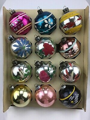 $ CDN13.20 • Buy Vintage Christmas Ornaments Hand Painted Lot Of 12