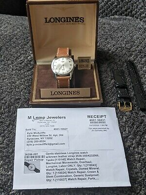$ CDN208.13 • Buy 1964 Vintage Longines Grand Prize Automatic Wristwatch Ref.2536-350 In Steel